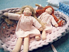"Mini ""Happy to see you"" dolls (Cline sur internet) Tags: doll waldorf poupe happytoseeyou"