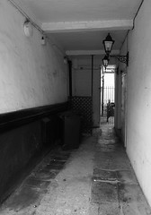 ALLEYWAY4 (Davesuvz) Tags: old england bw black english stone blackwhite alley cottage backstreet cobble alleyway cobbles