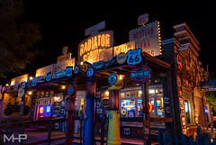 Radiator Springs Curios (rcpromike) Tags: california night lights store route66 neon sony disney anaheim dca dlr themepark disneycaliforniaadventure disneylandresort sonyalpha radiatorsprings sonya200 carsland radiatorspringscurios
