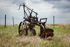 We've Come a Long Way (cheryl dow) Tags: plow saskatchewan 2013 antiquefarmequipment olivertwobottomplow
