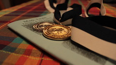 The prize (ImaginetheImpossibilities) Tags: art writing silver gold contest books 365 marktwain medals project365 365project 365challenge 365dayphotochallenge