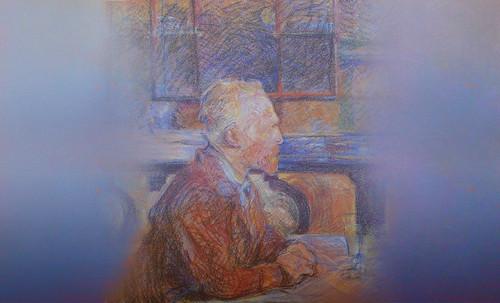 """Mentores, homenaje a Vincent van Gogh de Henri de Toulouse Lautrec (1887), y al padre de Pablo Picasso (1896). • <a style=""""font-size:0.8em;"""" href=""""http://www.flickr.com/photos/30735181@N00/8815672018/"""" target=""""_blank"""">View on Flickr</a>"""