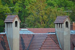 Roofs (Joe Shlabotnik) Tags: roof tile clay foresthills foresthillsgardens 2013 may2013