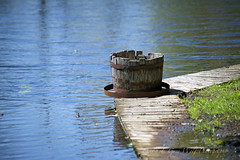 Barrel (D & E Grey Wolf Photography) Tags: canada water canal spring dock cumberlandbeach