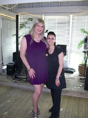 Susan and one of our waitresses (susanmiller64) Tags: trip friends vacation lasvegas susan cd crossdressing transgender miller crossdresser gender tg divalasvegas