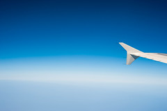 Airplane wing, Flying over Mediterranean Sea (Michal Jacobs) Tags: travel blue sky horizontal plane airplane fly flying day aircraft flight wing aerialview bluesky aeroplane transportation vehicle traveling winglet clearsky wingtip enroute viewfromabove aileron