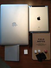 dice whatsinyourbag whatsinmybag fieldnotes ipad macbook