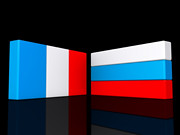 Flags Agreement France and Russia (One Way Stock) Tags: france russia flag unity eruope national patriotism cooperation agreement