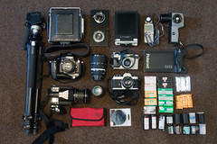 Photostock Kit (Alex Luyckx) Tags: gear camera bag photostock film whatsinthebag