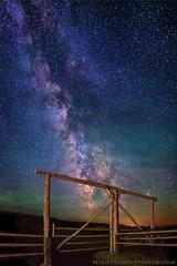 "Heaven's Gate (IronRodArt - Royce Bair (""Star Shooter"")) Tags: nightphotography sky night fence stars landscape evening gate heaven glow nightscape astro astronomy starry nightscapes milkyway grandtetonnationalpark trianglexranch starrynightsky"