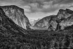 For Ansel (b#Photo) Tags: california blackandwhite bw mountains nationalpark nikon yosemite halfdome yosemitenationalpark elcapitan hdr anseladams tunnelview d80