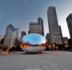 chicago's  cloud gate/ the bean (Rex Montalban Photography) Tags: chicago sunrise cloudgate thebean nonhdr rexmontalbanphotography