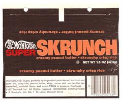 1977 Sunmark Wonka's Super Skrunch Candy Bar Wrapper (gregg_koenig) Tags: bar vintage candy super concorde 70s 1970s 1977 wonka wrapper willy sunline wonkas sunmark skrunch