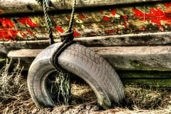 Tyre rope around me (Michael Evans images) Tags: boat mud rope avon tyre wirral