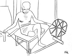 "Gandhi Spinning line drawing • <a style=""font-size:0.8em;"" href=""https://www.flickr.com/photos/78624443@N00/9760458406/"" target=""_blank"">View on Flickr</a>"