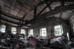 Shoe Factory Urbex (D.GFX.) Tags: pictures urban fish eye art heritage history leave abandoned rural underground lens photography photo graphics nikon shot angle mask decay clown explorer wide footprints sigma wideangle historic gas fisheye explore crew horror historical gasmask but nothing disturbed impala comfort 1020mm doomsday exploration 8mm hdr decayed ue urbex rossendale d90 bacup bracketed rurex d7100 crewshot