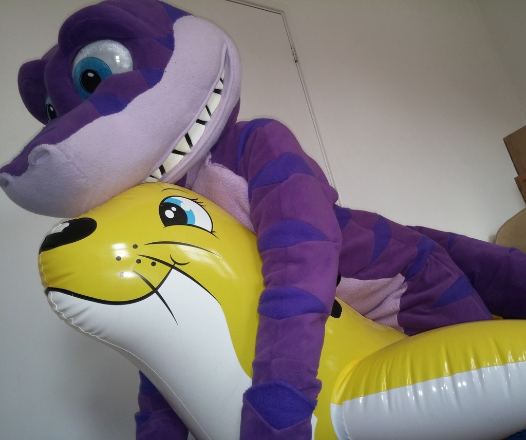 201503_07 Sealion 16 (SM The Shark) Tags: Shark Fursuit Inflatable Sealion  Sea Lion