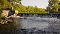 South Natick Dam (alohadave) Tags: sky water river unitedstates dam massachusetts charlesriver places infrastructure northamerica clearsky smcpda1645mmf40edal southnatickdam year38 pentaxk5 charlesriverdamatsouthnatick