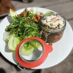 Ox in aspic / Sülze vom Weideochsen (sigi-sunshine) Tags: salad essen hütte hut snack meal pause rast salat horseradish picknick vesper meerrettich mahlzeit berghütte freudenstadt sülze rindfleisch stärkung