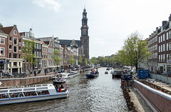 Keizergracht and Westerkerk - Amsterdam (BlueVoter - thanks for 2.2M views) Tags: church amsterdam canal huis kerk jordaan keizergracht westerkerk canalhouse