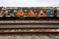 (o texano) Tags: bench graffiti ship texas houston trains d30 freights nekst wyse benching