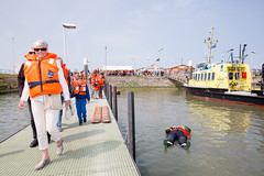(Peter de Krom) Tags: life rescue orange harbor floating tourists suit jacket survival hvh knrm berghaven