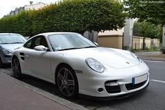 Porsche 911 Turbo 997 (Monde-Auto Passion Photos) Tags: voiture vhicule auto automobile porsche 911 turbo coup blanc 997 france fontainebleau