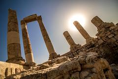 Sunrise over the Temple of Hercules (andryn2006) Tags: amman citadel jabalalqalaa jordan templeofhercules roman ruins ammangovernorate
