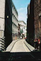 Just Caught (joshuacolephoto) Tags: street streetphotography uk ukstreetphotography people colour film 135 35mm kodak portra 400 travel explore england bristol contrast sunny summer warm just caught man shadow