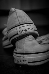 DSC_3662 (jameshowardphotography) Tags: mono monochrome contrast black white all star converse clarity placement shoes trainers footwear