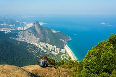 DSC_6105 (sergeysemendyaev) Tags: 2016 rio riodejaneiro brazil pedradagavea    hiking adventure best    travel nature   landscape scenery rock mountain    high green   summit  ocean blue