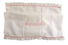 Eyelet and Satin Edged Diaper Burpie (initial_impressions) Tags: embroidered personalized eyeletandsatinedgeddiaperburpie