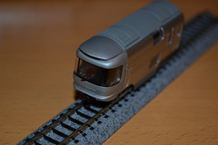 voiture extremite 8 Cassiopia B train (Thylacine Modlisme) Tags: bandai japan japon train marque brant pices pice roue chassie caisse  monter cassiopia nuit night car lit bed gray metalic gris mtalis bote box a b c 3 three trois made himself import importation n scale chelle model maquette motor motorisable locomotive locomotiv wagon