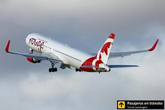 Boeing B767 Air Canada Rouge (Ana & Juan) Tags: airplane airplanes aircraft aviation airport aviones aviacin boeing 767 b767 aircanada rouge takeoff departure dublin dub eidw ireland spotting spotters spotter planes canon closeup clouds