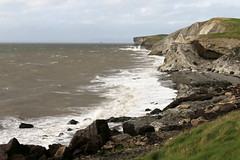 Solway Firth (Cumberland Patriot) Tags: solway firth workington salterbeck moss bay shore beach seaside sea seas wave waves cliff cliffs slag bank rock rocks coast landscape