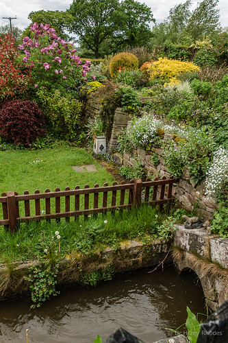 Sluice in Bosley Top Lock cottage garden