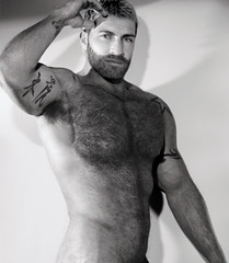 231 (rrttrrtt555) Tags: hair hairy chest beard muscles stubble arms shoulder armpit tattoo flex stare masculine attitude eyes shoulders