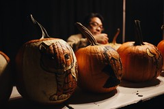 Man and his craft. Halloween tradition combined with art at The Rise Of the Jack-O Lanterns.  (redshutterbugg) Tags: therise discoverla carving art pumpkins love 35mm canon6d