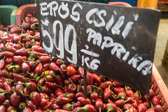 20160916 Budapest, Hungary 03197 (R H Kamen) Tags: budapest easterneurope hungary abundance chilli food foodmarket label largegroupofobects markethall marketstall paprika peppervegetable peppers pricetag retail rhkamen