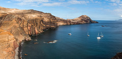 if you would rather rest in the place of paradise (Diogo Varela de Sousa) Tags: hiking landscape sea seascape bay coast shore coastline seashore sailing boats island madeira rock formation geology ourdoor waterfront cliff seaside water elements nature
