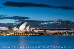 Blue Zoom (James Whitlock Photography) Tags: australia nsw new south wales sydney opera house harbour bridge long exposure sails sea night sunset blue hour light cloud sky mrs macquaries chair lee filters nikon d810 gitzo