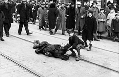 #A Polish Jewish boy lifts the head of a deceased young man who collapsed from starvation and died along the tram lines in the Warsaw Ghetto. c.1942. [3231 x 2099] #history #retro #vintage #dh #HistoryPorn http://ift.tt/2e2yv8P (Histolines) Tags: histolines history timeline retro vinatage a polish jewish boy lifts head deceased young man who collapsed from starvation died along tram lines warsaw ghetto c1942 3231 x 2099 vintage dh historyporn httpifttt2e2yv8p