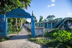 5D8_7397 (bandashing) Tags: blue sky gate village mosque madrasa madrasah landscape madarbazar balagonj sylhet manchester england bangladesh bandashing socialdocumentary aoa akhtarowaisahmed