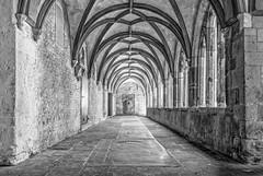 Kreuzgang I (vb-bildermacher) Tags: bw xanten dom niederrhein nrw kirche victordom kreuzgang entspannung ruhe innenhof schwarz weiss gedenksttte gotisch hochkreuz