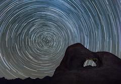 STAR CIRCLES  ... explored (alicecahill) Tags: starryskies california usa arch alicecahill easternsierra stars startrails night alabamahills