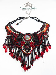 red necklace (Puntá con Hilo) Tags: necklace beadwork