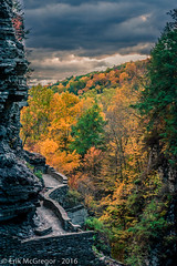 EM-161023-POST-004 (Minister Erik McGregor) Tags: 2016 art erikmcgregor nyc newyork photooftheday photography 9172258963 erikrivashotmailcom erikmcgregor fall gorge ithaca waterways outdoors forest luciferfalls clouds rain waterislife leafturning foliage fingerlakes tremanstatepark habitat nature outdoorlife roadtrip hiking trail amazingplanet panorama naturephotography nikon nikonphotography