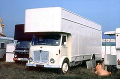 AEC Mercury, 3402 FK (ergomammoth) Tags: lorry lorries truck trucks aec aecmercury boxvan pantechnicon aecltdsouthall aecav470 parkroyalvehicles gustransport greatuniversalstores fairgroundtransport showmanstransport showmansguildofgreatbritain amusementcaterers westbay dorset