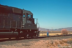An ASEUM and an EUASM at Moran - 1 of 4 (C.P. Kirkie) Tags: southernpacific sp spmodocline california nco nevadacaliforniaoregon railroads trains timberindustry lassencounty moran ssw cottonbelt caboose sagebrush