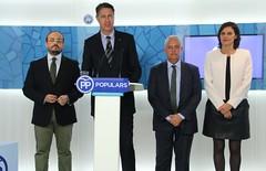 Alejandro Fernández, Xavier Garcia Albiol, Santi Rodríguez y Esperanza García